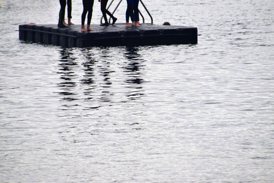 Summers Beach Diving Board Cornwall Uk Kernow Low Section Water Human Leg Day Outdoors Human Body Part Real People One Person Men Women Nature People Adult Swimming Diving Water Pursuits