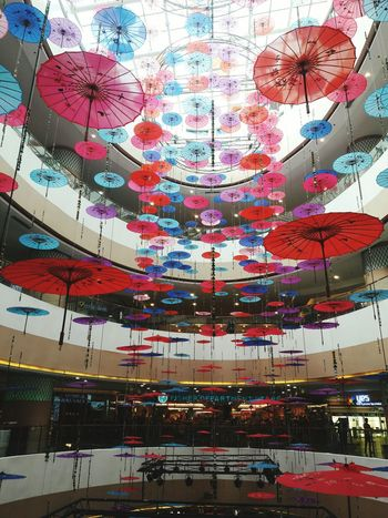 Japanese Umbrella Decoration Umbrella Japanese  Mall No People Backgrounds Full Frame Outdoors Day Sky Close-up