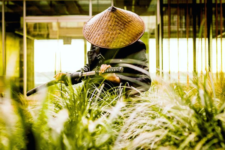 Samurai In Grass