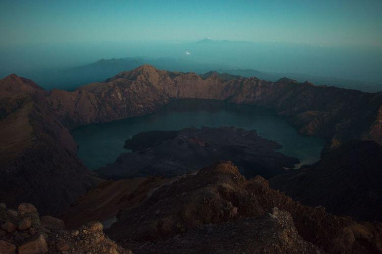Top view mount rinjani national park