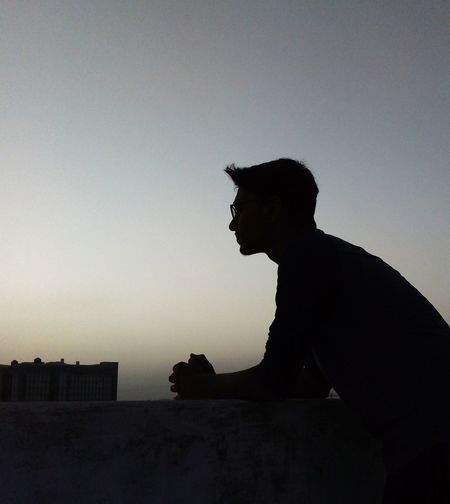 Maninagar Ahmedabad India Streetphotography EyeEm Selects Building Exterior Indiapictures Indian Men Silhouette Side View City Sitting Sky Historic Building Residential Structure Exterior