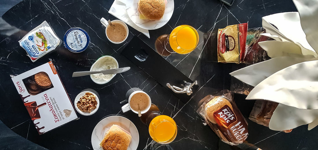 Food Foodphotography Food Porn Food♡ Juice Breakfast Athens Athens, Greece Directly Above Homemade Table Sweet Food Close-up Food And Drink