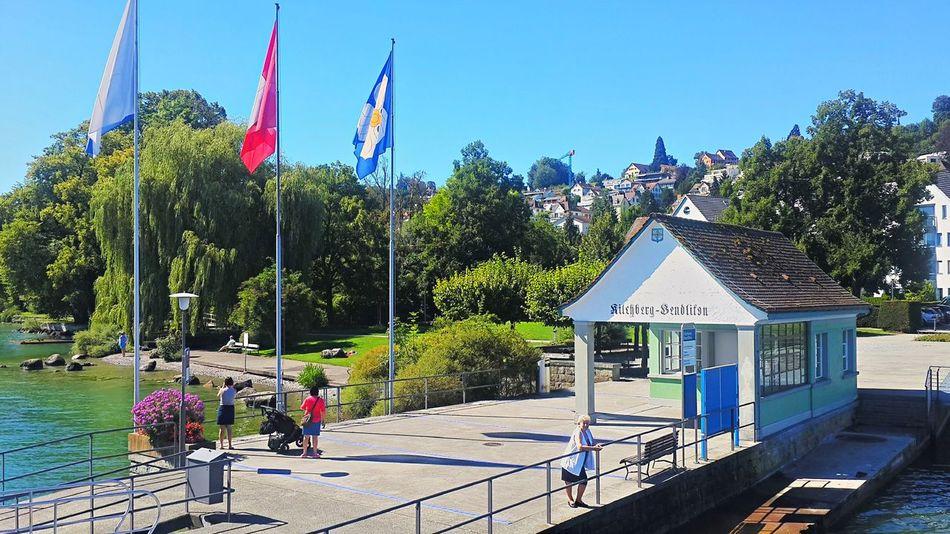 Schiffsteg Kilchberg Blue Clear Sky Day Flag Kilchberg National Flag Outdoors Schweiz Switzerland Tranquil Scene Zürich Zürichsee