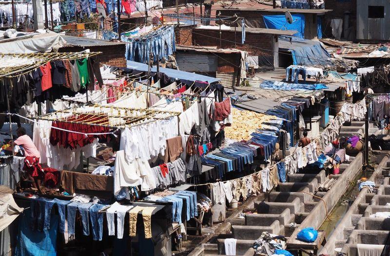 Mumbai open air laundry, Dhobi Ghat. Mumbai Travel Photography Dhobighat Laundry India