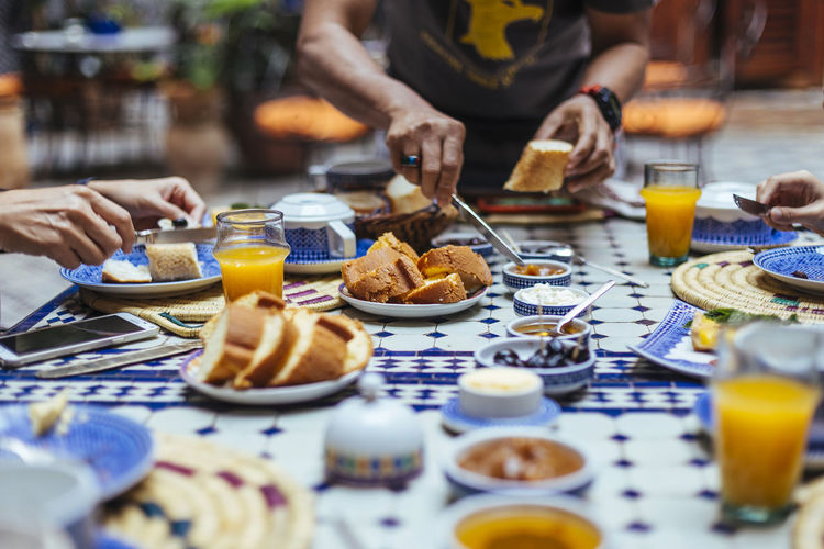 Morocco breakfast style Adult Bread Breakfast Brunch Day Food Human Hand Morocco Outdoors People Snack Street Food