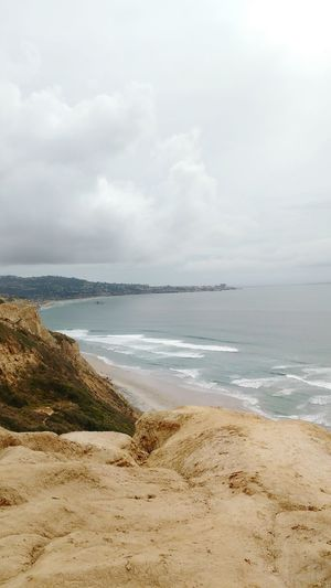 Torrey Pines Cliffs Bluff Waves Sky And Clouds Ocean View Overlooking The Sea Southern California California Ocean Nature_collection Sandiego Outdoor Photography Ocean Photography Cloudporn Clouds And Sky Cityview The Great Outdoors - 2016 EyeEm Awards Water Sea Sky Tranquility Outdoors Nature Beach No People Scenics Horizon Over Water Day Beauty In Nature