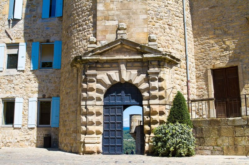 Beautiful castle with a nice view | Architecture History Castles Built Structure Building Exterior Stone Material Window Arch Outdoors No People Façade Day Residential Building Tree Ardeche France The Week On EyeEm