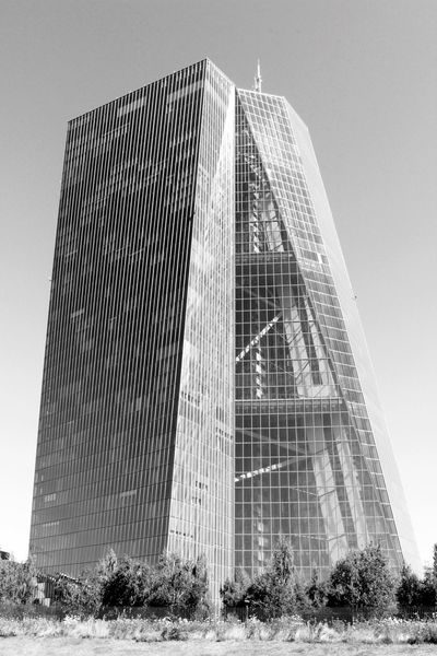 Sky Skyscraper Skyscrapers Building Buildings & Sky Arhitecture Black And White Monochrome Bw Black & White EZB EZB Frankfurt High Buildings Bank Buildings Built Structure No People Ostend Modern Architecture