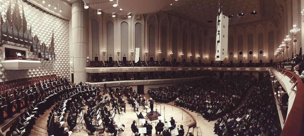 Symphony Orchestra Orchestra Concert  Indoors  Arts Culture And Entertainment Architecture Luxury No People Illuminated Day