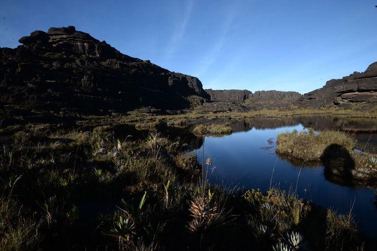 Monte Roraima Trip Water Astronomy Mountain Lake Tree Reflection Blue Sky Landscape