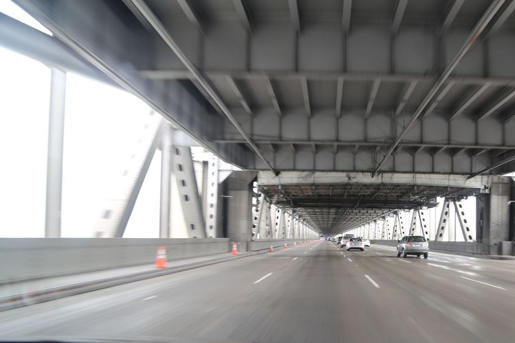 Architecture Bay Bridge Bridge - Man Made Structure Built Structure Car City Connection Driving On Outdoors Road Traffic Transportation