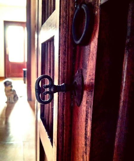 The key of the light Door Light Dog Old Key