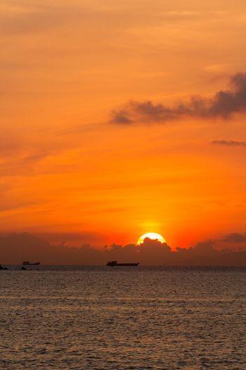 Sunset Orange Color Sky Beauty In Nature Water Scenics - Nature Sea Cloud - Sky Dramatic Sky No People Romantic Sky Outdoors