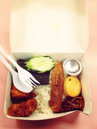 Lunch with Jovianne! Hehehe. Community work ftw woohoooo Singapore Asian Food Nasi Lemak Catchherfart