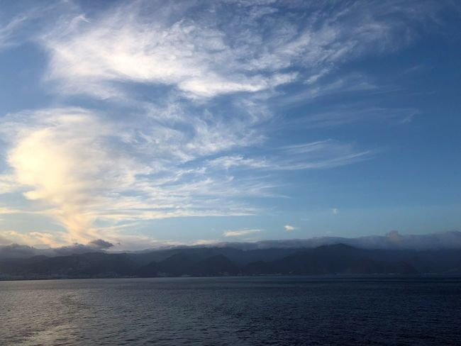 Sky Cloud - Sky Water Beauty In Nature Scenics - Nature Tranquil Scene Tranquility Sea Mountain Nature Waterfront No People Non-urban Scene Environment Outdoors Holiday Idyllic Landscape Mountain Range Wolkenbilder Wolkenkunst Sonnenuntergang Wasserspiegelung Himmel Und Wolken Tenerife Island