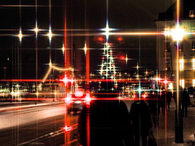 A bit experimental... AI Now! Urban Scene Street Light City Life Street City Road Light Trail Blurred Motion Transportation Motion Long Exposure Night Illuminated Star Filter