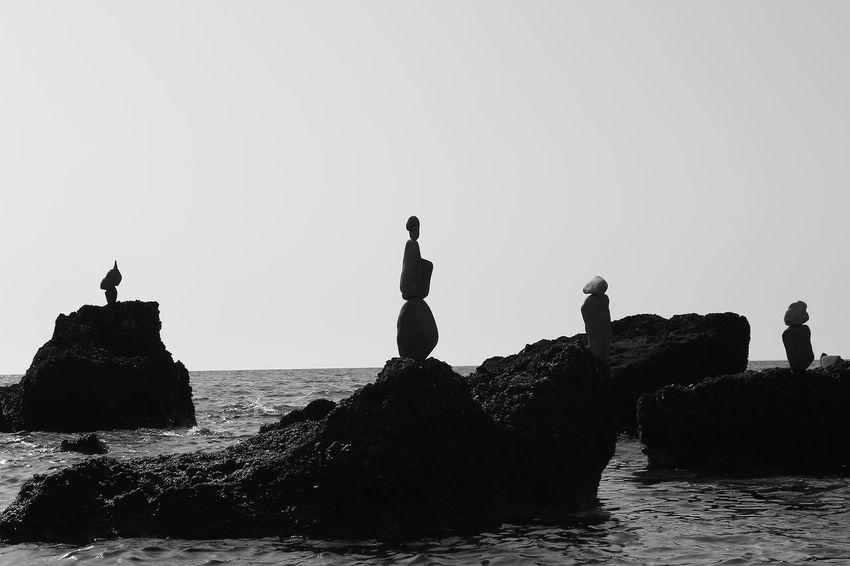 #blackandwhite #Blackandwhitephotography Art On The Beach ArtWork Beach Beachphotography EyeEmNewHere Sea Silhouette