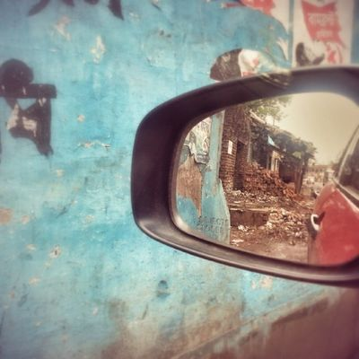 My past is all in ruins. Car Retrospect Past