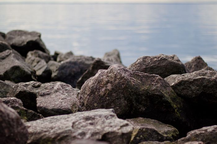 EyeEm Selects Rock - Object Nature Sea No People Beach Outdoors Day Water Beauty In Nature Bokeh Photography The Gulf Of Finland Stones Stones & Water Spb