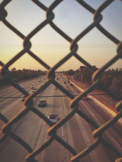 #sunset #freeway #cars #iphone #photography
