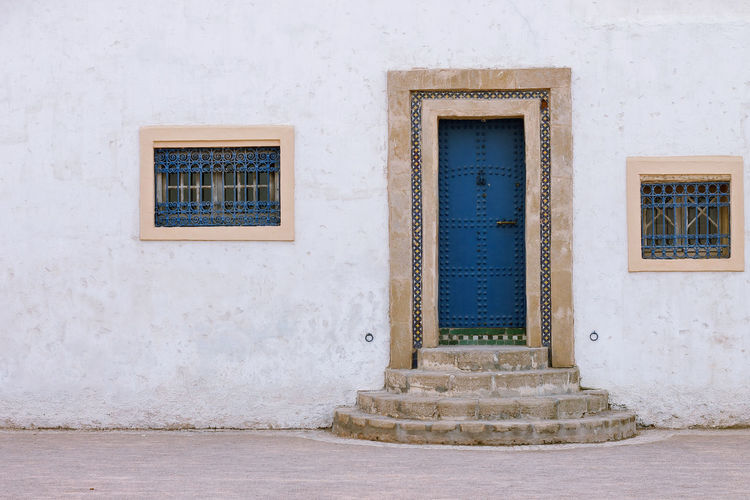 Kasbah des Oudayas Kasbah Des Oudaya Morocco Rabat Architecture Building Building Exterior Built Structure Closed Door Façade House Maroc Morocco Beauty Morocco Rabat No People Old Outdoors Safety Wall Wall - Building Feature White Color Window Yallow