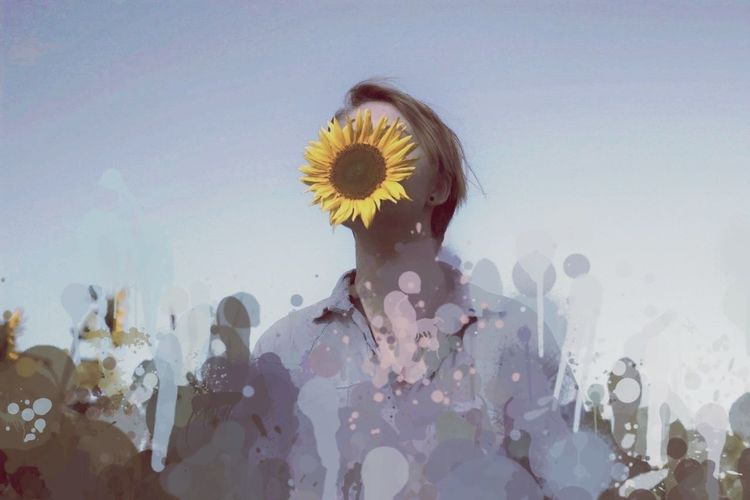 Trip Trip Photo Sunset Sunflower Pastel Power Portrait Conceptual Nature_collection Effects & Filters Different Points Of View Summer Views