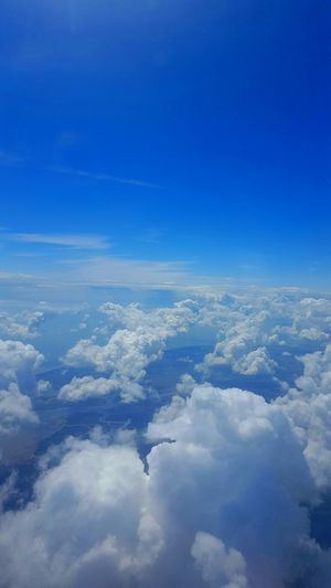 Cloud Nine Tranquility Sky View From Airplane Cloudscape Cloud Formations Cloudchaser Blue Sky White Clouds Blue Sky Blue Fluffy Clouds South England Landscape Colours Of Life