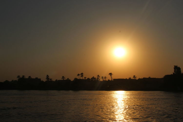 Countryside Egypt Egyptian Village Nature Nile River Nutural View Sky Sunlight Sunset