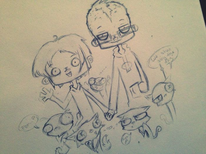 Wip Work In Progress Cute Anime Doodle Cartoon Sketch Art Creepy