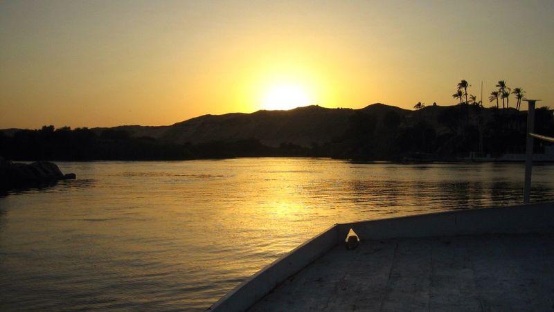 Aswan, Egypt Nilo Sunset