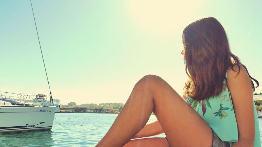 Girl Pier Beach