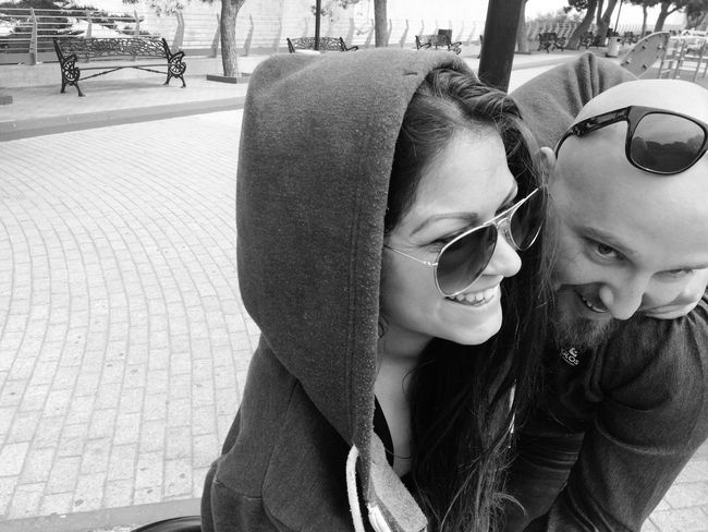 Husband Love You And Me Enjoying Life Summertime Hello World SO FUN Holiday Summer Happy Day Blackandwhite Glasses Lifestyles Togetherness Smiling Leisure Activity Emotion #urbanana: The Urban Playground