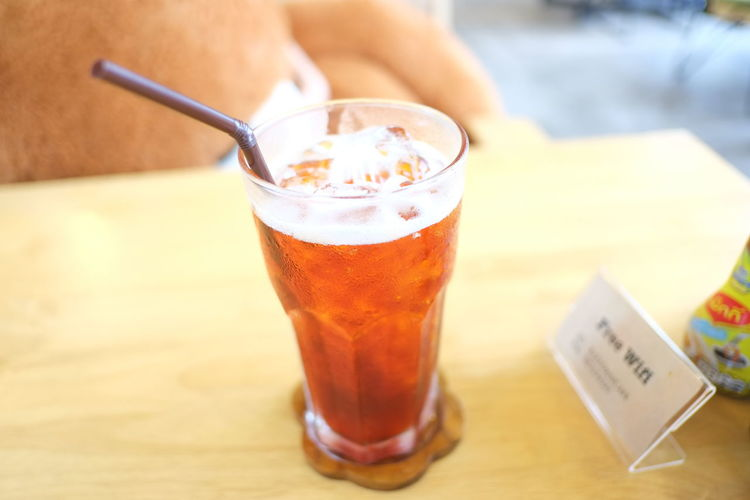 Close-up of a drink on table