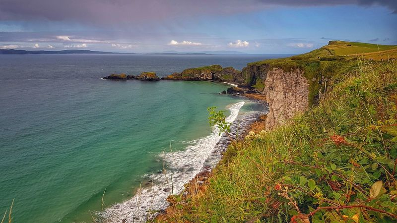 Wave Beauty Day Sunset Beauty In Nature Sea Beach Landscape Vacations Nature Outdoors Horizon Over Water Water Cloud - Sky Sky Sand No People Carrick-a-Rede Rope Bridge