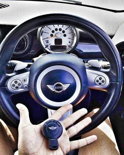 Human Hand Human Body Part People Car Close-up Adult Adults Only Technology One Person Gearshift Day Outdoors One Man Only Mini Cooper Minicooperworld Mini Cooper Fan Mini Cooper SD Kıbrıs Girne/ Kıbrıs Best