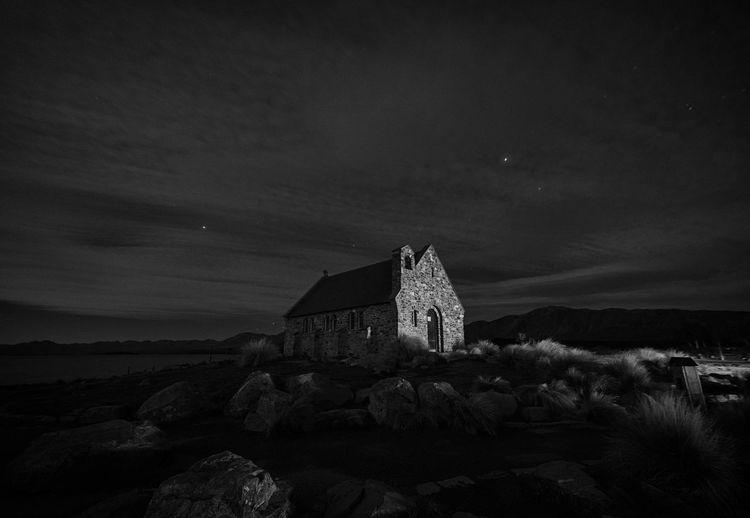 Church Of The Good Shepherd Against Sky At Night
