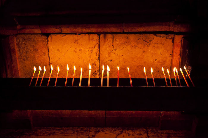 Candles at the Church of the Holy Sepulcher Church Of The Holy Sepulcher Holy Sepulcher Candles Church Holy Spirit Holy Land Lovers Sepulcher Burning Close-up Flame Heat - Temperature Holy Land Holy Place Illuminated Indoors