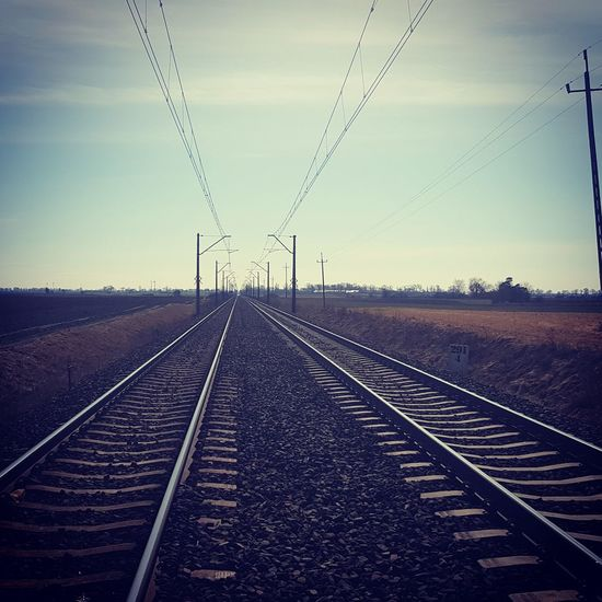 Technology Industry Freight Transportation Cable Railroad Track Electricity  Rail Transportation Public Transportation Business Finance And Industry Train - Vehicle
