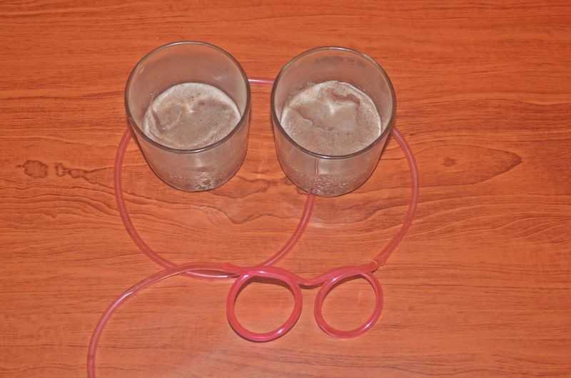 Breaktime Chocolate Milkshake Glass Refreshment Silly Straw The OO Mission Wood Adhesive Tape Food Stories