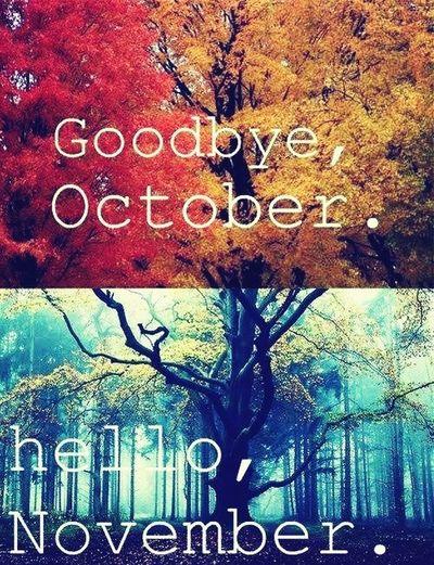 Goodbye October Hello November