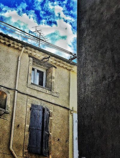 Houses And Windows House Village Street Corner Clouds And Sky France SudDeFrance Hérault The Architect - 2016 EyeEm Awards