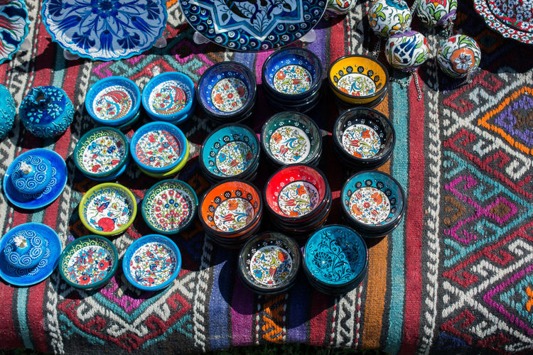 bowls with Turkish art patterns