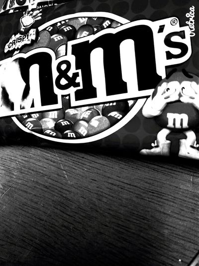 M&ms on a sunday PhonePhotography Mucking About Foodporn Blackandwhite