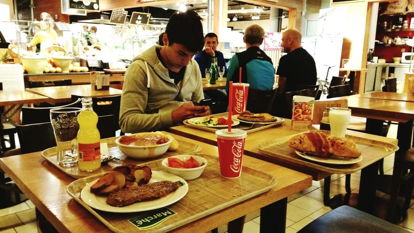Snapshots Of Life Brother❤ Slovenia Restaurant Coca-cola Eating 😊