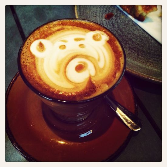 Have a little bear latte before go to work!!So cute~