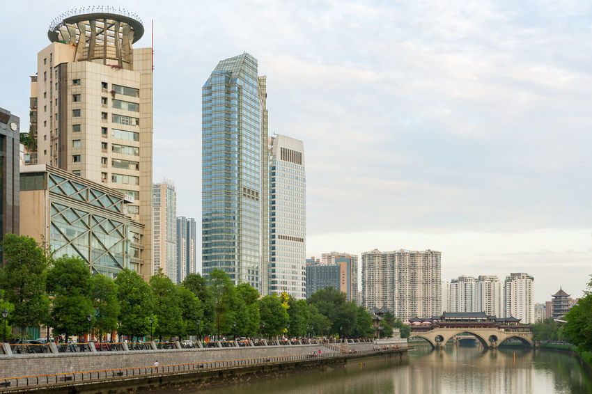 chengdu anshun bridge Chengdu Anshun Bridge Architecture Bridge Bridge - Man Made Structure Building Building Exterior Built Structure City City Life Cityscape Connection Financial District  Modern Nature Office Office Building Exterior Outdoors River Sky Skyscraper Tall - High Tower Tree Water
