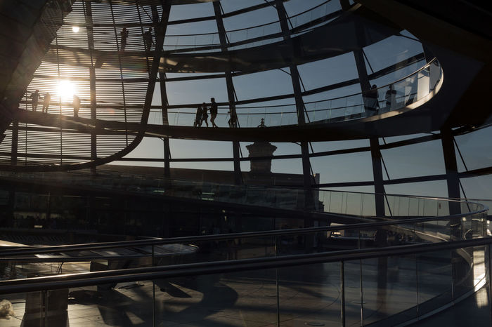 Reichstag Dome Reichstagskuppel Architecture Built Structure City Glass Dome Indoors  Railing Reichstagskuppel Sky Sunlight