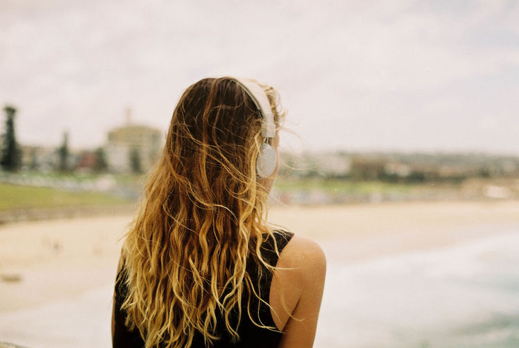 Day Film Photography First Eyeem Photo Focus On Foreground Headshot Leisure Activity Lifestyles Long Hair One Person Outdoors Real People Rear View Sky Women Young Adult Young Women Fresh On Market 2017