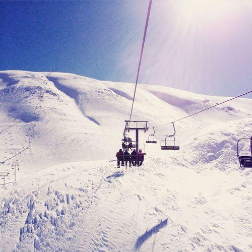 Snow Skiing Ski Snowboarding Lebanon LiveLoveLebanon White Slopes Télésiège