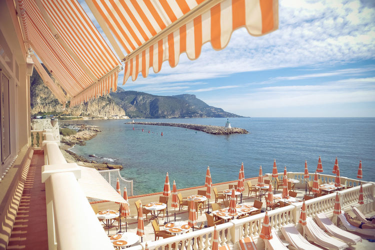 Monaco Beach City Monaco Monte Carlo Mountains Outdoors Paradise Sea Travel Traveling Water Waves
